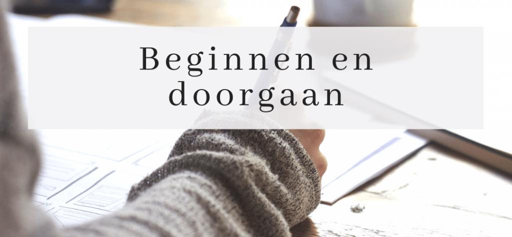 Blogs beginnen en doorgaan