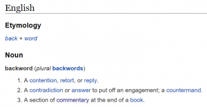 etymology-backword